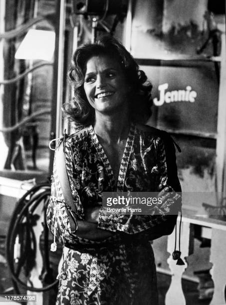 American actress Lee Remick behind the scenes on the set of the madefortv miniseries 'Jennie Lady Randolph Churchill' New York New York 1975