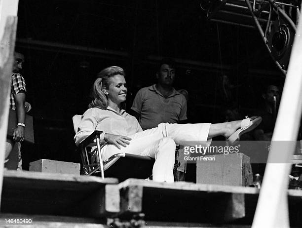 American actress Lee Remick during the filming of the movie 'Antes matar…despues amar' Madrid Spain