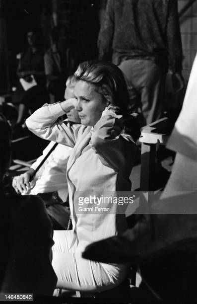 American actress Lee Remick during the filming of the movie 'Antes matar…después amar' Madrid Spain