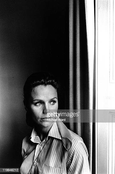 American actress Lee Remick posing by a window 1969