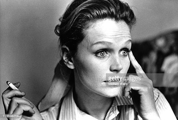 American actress Lee Remick smoking a cigarette 1969