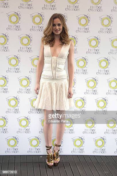 American actress Leighton Meester attends the new international ambassador for Herbal Essences brand photocall at Hesperia hotel on May 5, 2010 in...