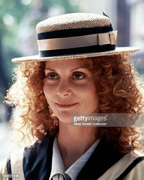 American actress Lesley Ann Warren wearing a straw boater hat circa 1980