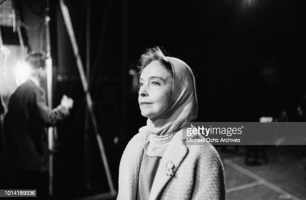 American actress Lillian Gish rehearsing for a play in the East Village New York City circa 1958