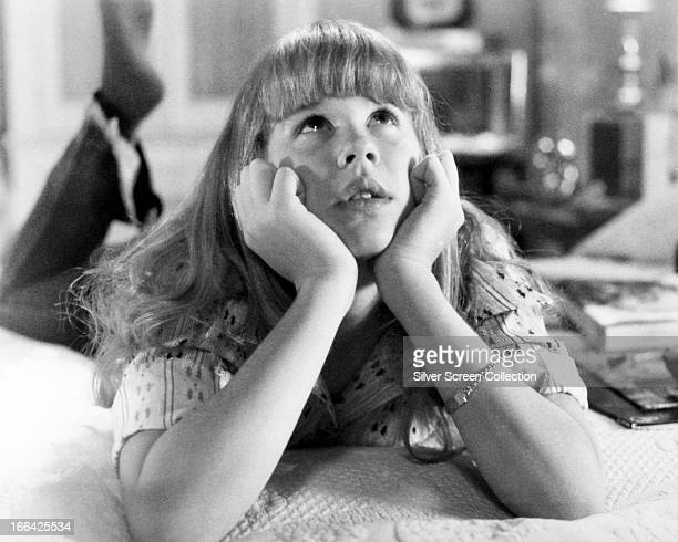 American actress Linda Blair as Regan in 'The Exorcist' directed by William Friedkin 1973