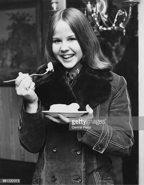 American actress Linda Blair at a reception in London 24th March 1974 She plays the demonpossessed Regan MacNeil in the 1973 film 'The Exorcist'