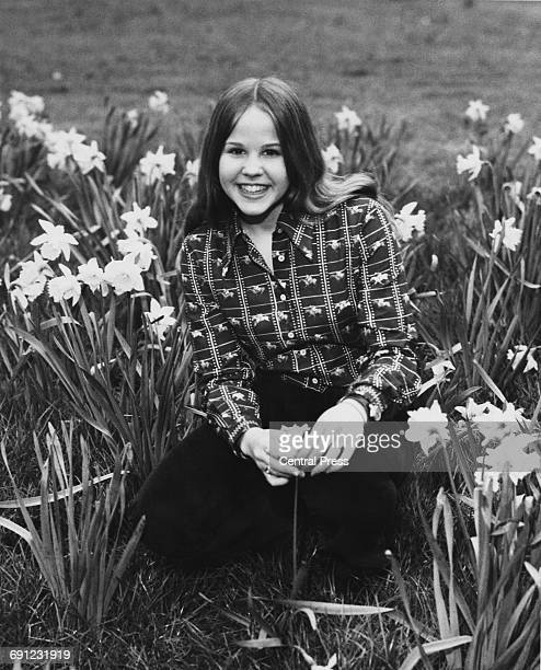 American actress Linda Blair in Kensington Gardens London 24th March 1974 She plays the demonpossessed Regan MacNeil in the 1973 film 'The Exorcist'