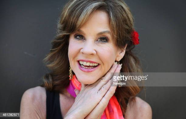 American actress Linda Blair poses during a photo shoot in Surry Hills in Sydney New South Wales to promote a national tour for the 40th anniversary...
