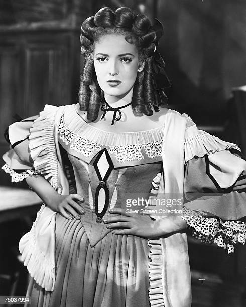 American actress Linda Darnell in period costume circa 1950