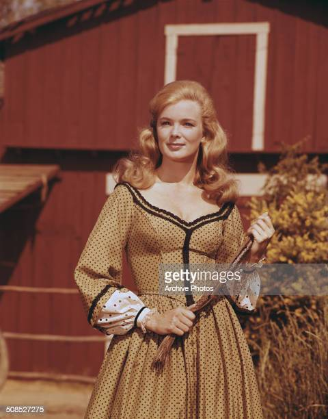 American actress Linda Evans as Audra Barkley in the television series 'The Big Valley' circa 1965