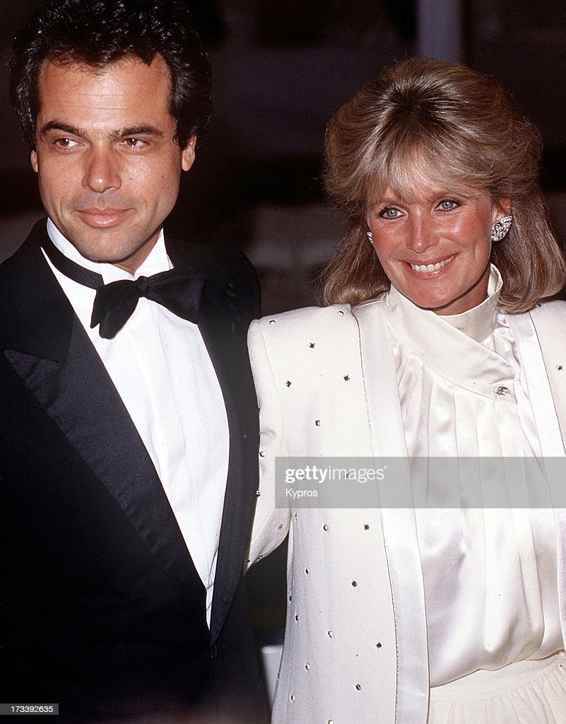 American actress Linda Evans with George Santo Pietro, circa 1985.
