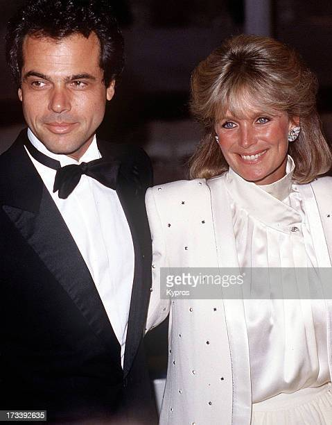 American actress Linda Evans with George Santo Pietro circa 1985