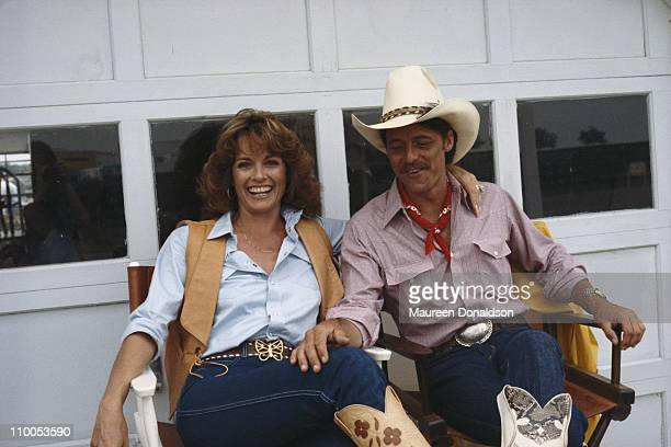 American actress Linda Gray on the set of the television soap opera 'Dallas' 18th July 1979