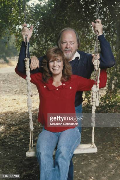 American actress Linda Gray with her husband artist Ed Thrasher circa 1980