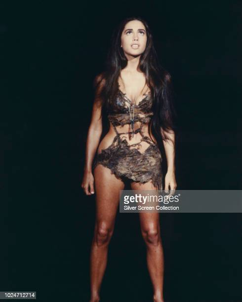 American actress Linda Harrison as Nova in a publicity still for the film 'Planet of the Apes' 1968