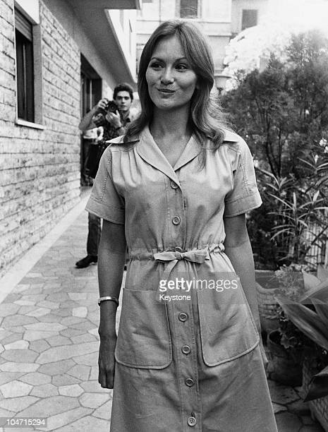 American actress Linda Lovelace in Rome where she is set to begin work on the film 'Laure' 1976 Lovelace starred in a number of pornographic films in...