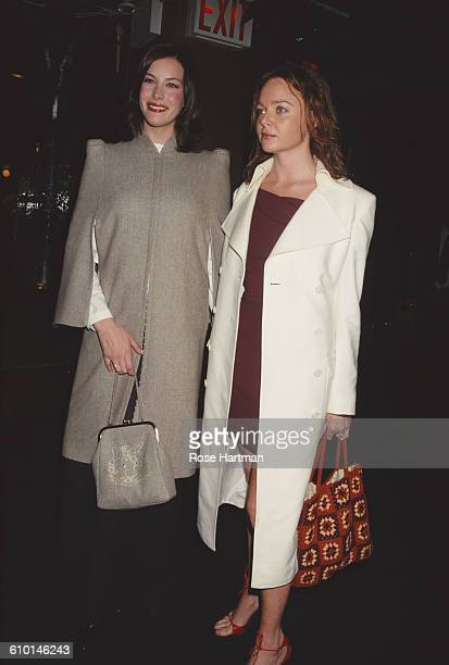 American actress Liv Tyler and British fashion designer Stella McCartney at the Ovarian Cancer Research Fund Millennium Dresses benefit and auction...
