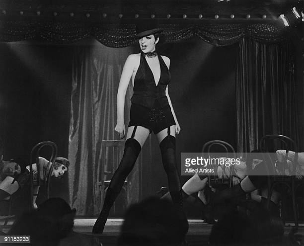 American actress Liza Minnelli as Sally Bowles, in a scene from the musical 'Cabaret', directed by Bob Fosse, Germany, 1972.