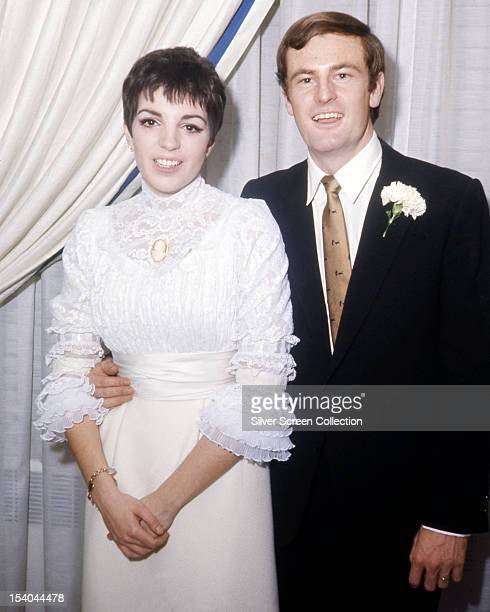 American actress Liza Minnelli with her first husband, Australian born actor Peter Allen , at their wedding, 3rd March 1967.