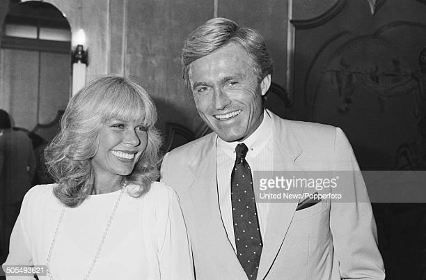 American actress Loretta Swit pictured with her husband actor Dennis Holahan in London on 6th June 1984