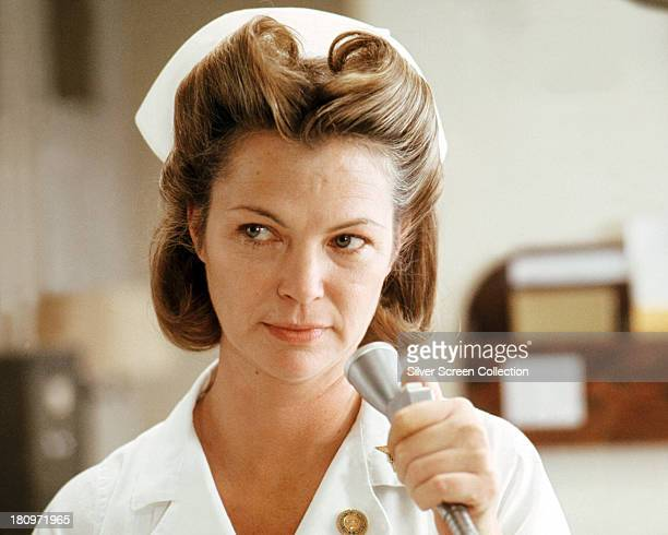 American actress Louise Fletcher as Nurse Ratched in 'One Flew Over The Cuckoo's Nest' directed by Milos Forman 1975