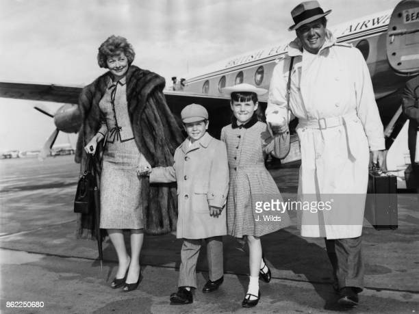 American actress Lucille Ball and her husband Desi Arnaz arrive at London Airport with their children Lucie and Desi Jr 10th June 1959 They have just...