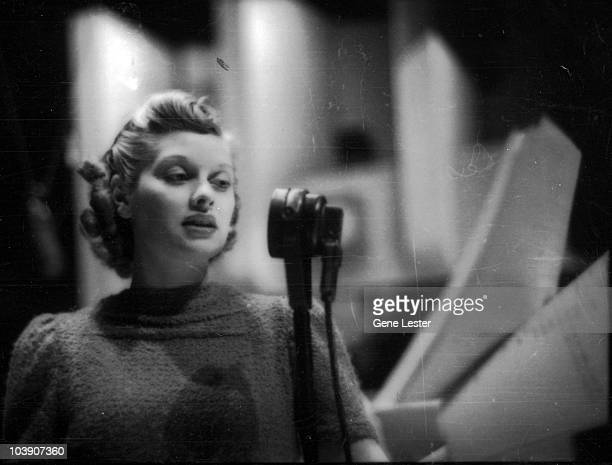 American actress Lucille Ball appears on radio programme 'The Phil Baker Show' 1938