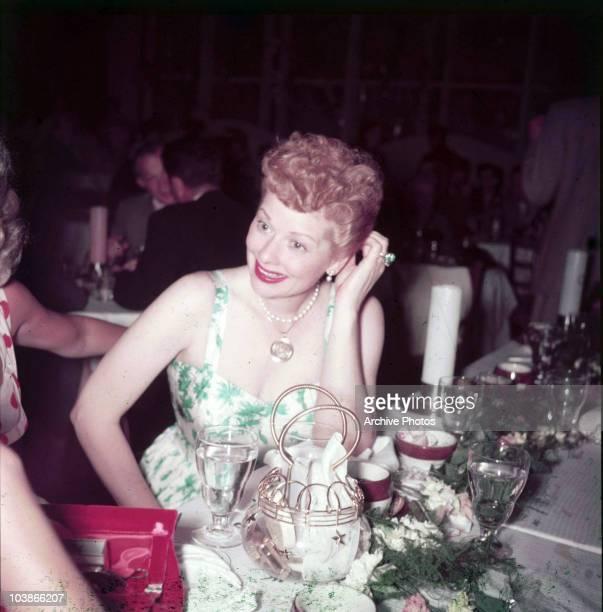 American actress Lucille Ball at Ciro's nightclub in West Hollywood California circa 1950