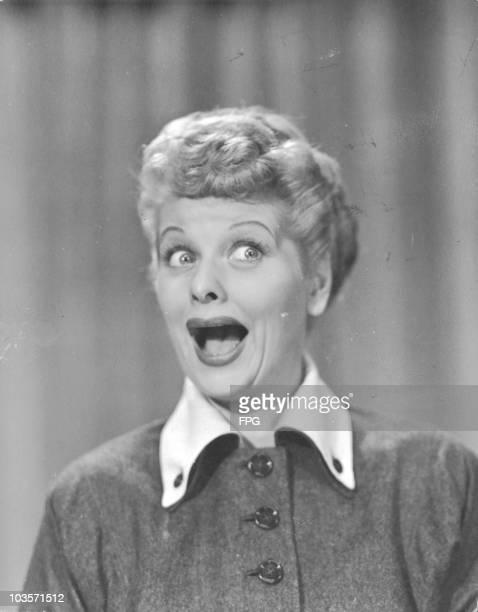 American actress Lucille Ball circa 1955