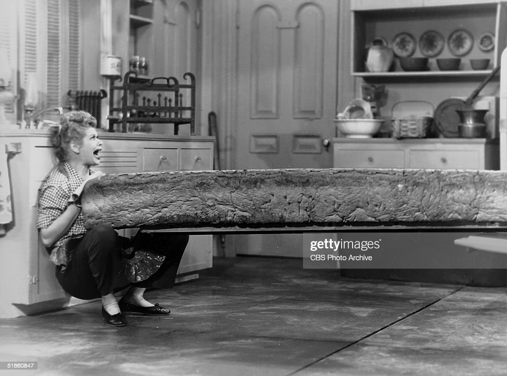 Ball With Loaf Of Bread 'I Love Lucy' : News Photo