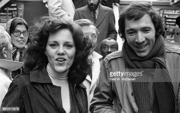 American actress Madeline Kahn and playwright Israel Horovitz attend a Save NYC Rally New York New York November 24 1975