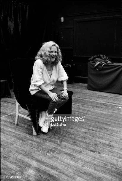 American actress Madeline Kahn speaks during a Mirror Repertory Company workshop for students at Julia Richman High School New York New York 1989