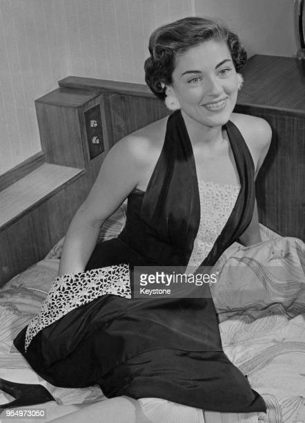 American actress Margaret Sheridan wearing a pair of diamondstudded mink earrings London 19th September 1953