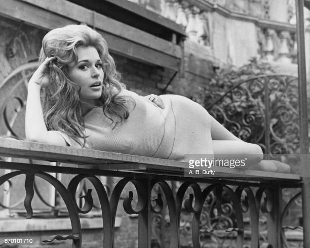 American actress Marianna Hill at a reception at Les Ambassadeurs in London having been selected for the role of Claudine in the film 'El Condor'...