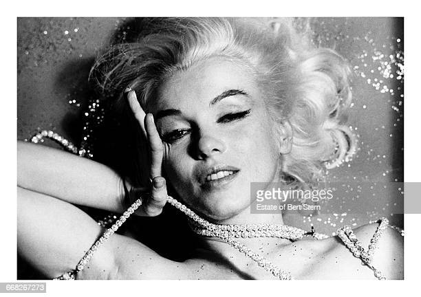 American actress Marilyn Monroe draped in jewellery Beverly Hills California June 1962 The two sessions for the photoshoot took place in late June...