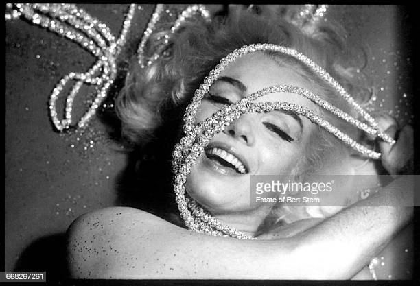 American actress Marilyn Monroe draped in jewels Beverly Hills California June 1962 The two sessions for the photoshoot took place in late June and...