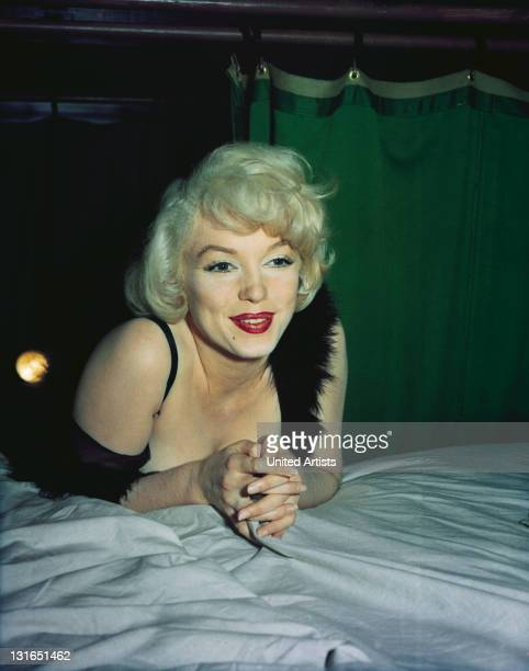 American actress Marilyn Monroe in a scene from 'Some Like It Hot' directed by Billy Wilder 1958