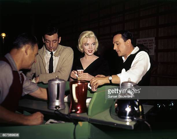 American actress Marilyn Monroe on the set of Let's Make Love directed by George Cukor