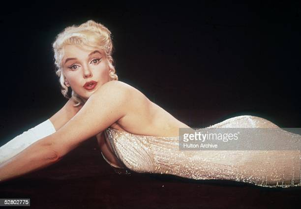 American actress Marilyn Monroe stars as offBroadway actress Amanda Dell in George Cukor's 'Let's Make Love' 1960