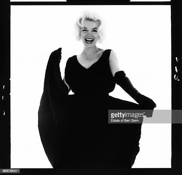American actress Marilyn Monroe wearing a black dress Beverly Hills California July 1962 The two sessions for the photoshoot took place in late June...
