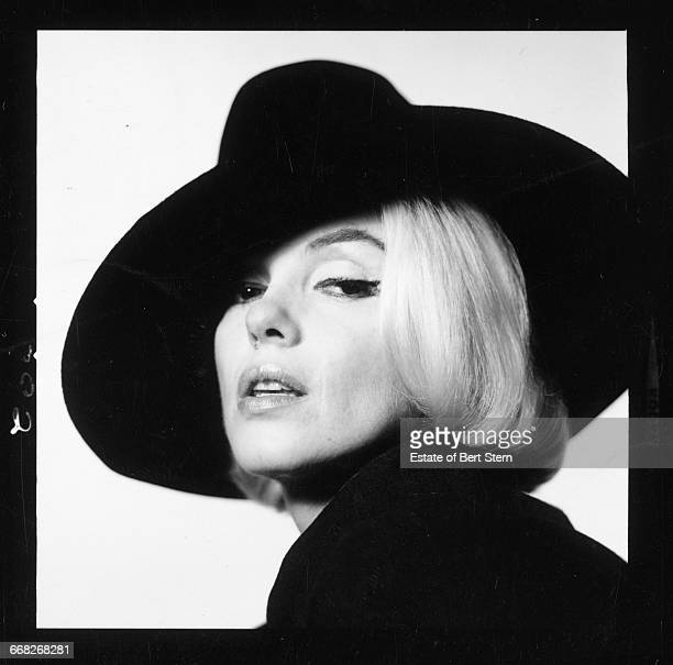 American actress Marilyn Monroe wearing a black hat Beverly Hills California July 1962 The two sessions for the photoshoot took place in late June...