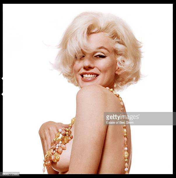 American actress Marilyn Monroe wearing a jewelled necklace Beverly Hills California June 1962 The two sessions for the photoshoot took place in late...