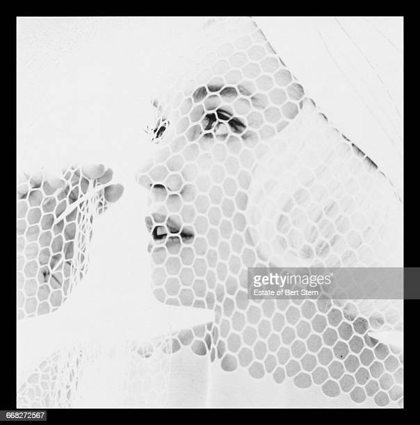 American actress Marilyn Monroe (1926 - 1962) wearing a white veil, Beverly Hills, California, July 1962. The two sessions for the photoshoot took place in late June and early July, only weeks before her death on 5th August 1962. The images were published posthumously in Vogue magazine under the title 'The Last Sitting'.