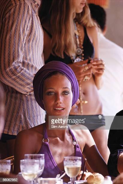 American actress Marisa Berenson in Capri September 1968
