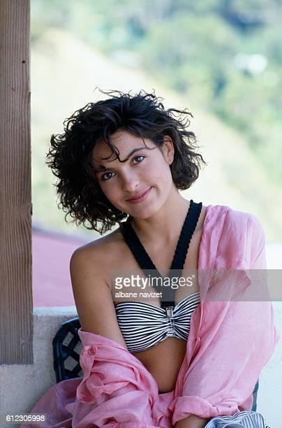 American actress Mariska Hargitay outside her Los Angeles home