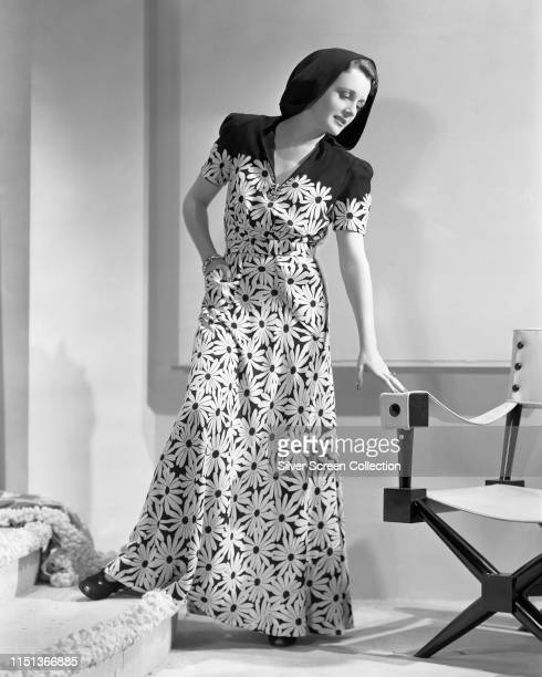 American actress Mary Astor wearing a floral dress circa 1940
