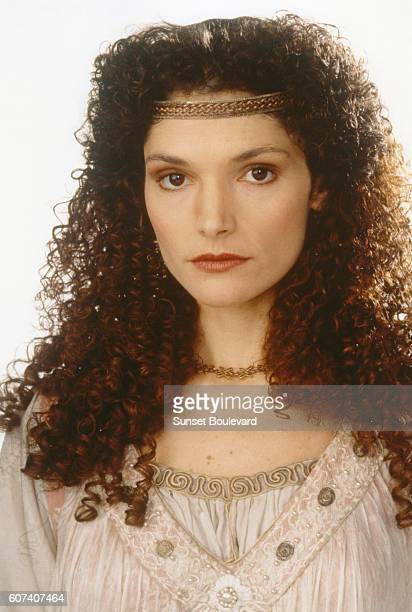 American actress Mary Elizabeth Mastrantonio on the set of Robin Hood Prince of Thieves directed by Kevin Reynolds