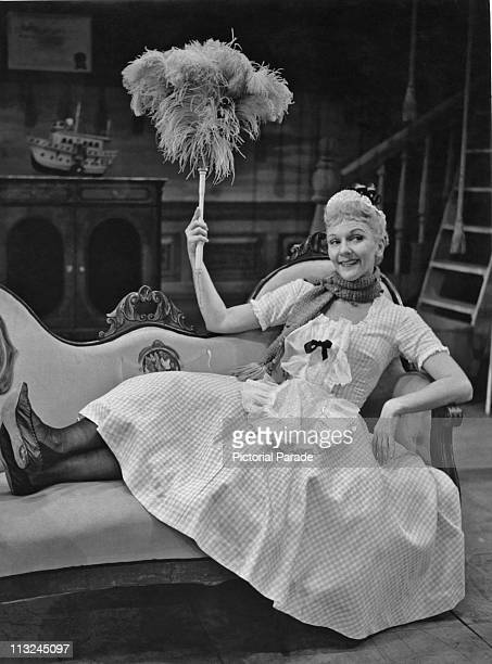 American actress Mary Martin in the 1955 television show 'The Skin of Our Teeth'