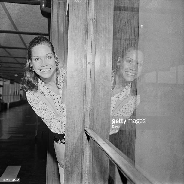 American actress Mary Tyler Moore leaves London Airport , London, 12th July 1969.