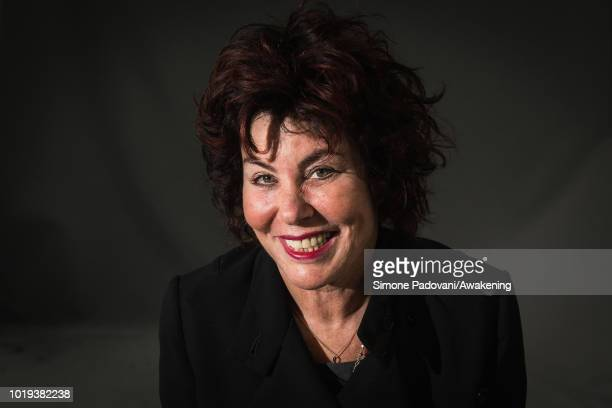 American actress mental health campaigner lecturer and author Ruby Wax attends a photocall during the annual Edinburgh International Book Festival at...